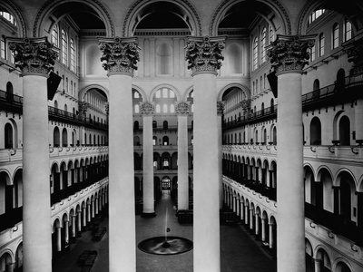 Great Hall of National Building Museum Stretched Canvas Print