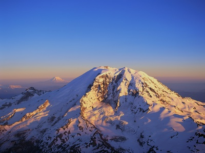 Aerial View of Mount Rainier Stretched Canvas Print