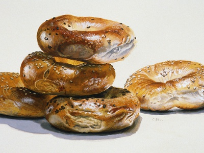 Bagels Stretched Canvas Print