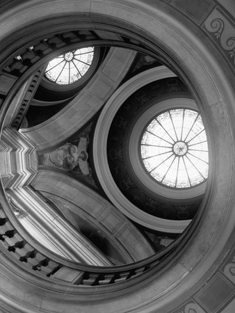 Interior of Essex County Courthouse Rotunda Stretched Canvas Print
