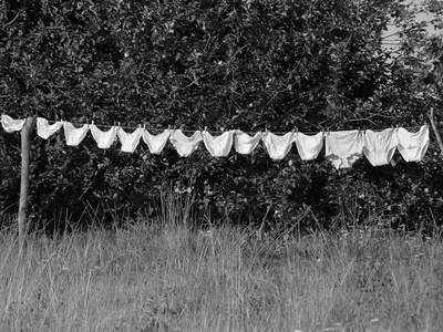 Underwear Hanging to Dry Stretched Canvas Print