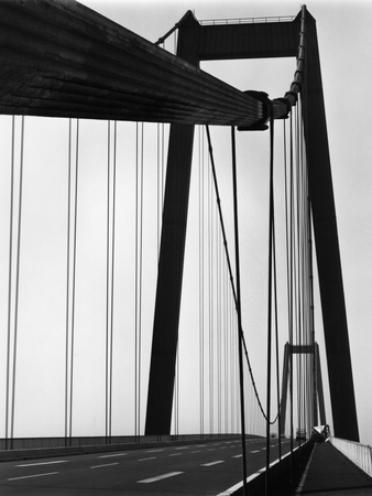Suspension Bridge Stretched Canvas Print