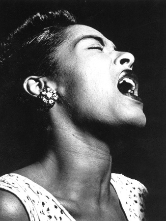 Billie Holiday (1915-1959) Stretched Canvas Print