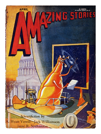 Science Fiction Cover, 1930 Stretched Canvas Print