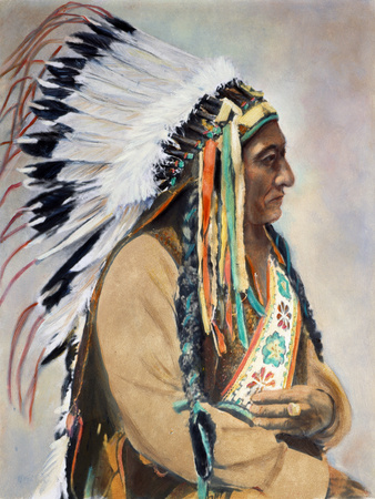 Sitting Bull (1834-1890) Stretched Canvas Print
