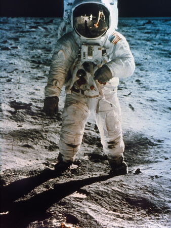 Apollo 11: Buzz Aldrin Stretched Canvas Print