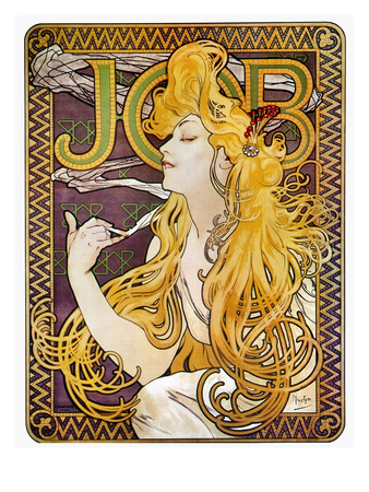 Mucha: Cigarette Papers Stretched Canvas Print