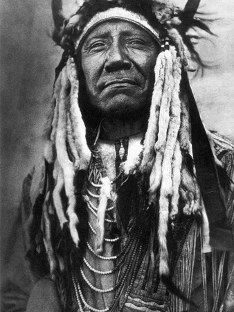 Cheyenne Chief, C1910 Stretched Canvas Print