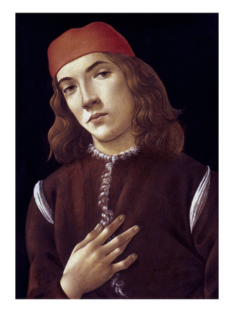 Portrait Of A Youth artwork by Sandro Botticelli