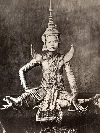 Siam: Dancer, C1870 Stretched Canvas Print