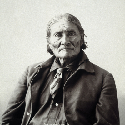 Geronimo (1829-1909) Stretched Canvas Print