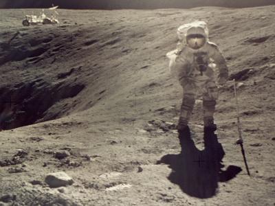 Apollo 16 Stretched Canvas Print