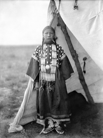 Sioux Girl, C1905 Stretched Canvas Print