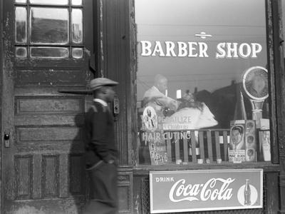 Chicago: Barber Shop, 1941 Stretched Canvas Print