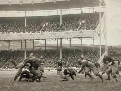 Football Game, 1916 Stretched Canvas Print