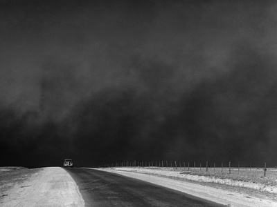 Dust Bowl, 1936 Stretched Canvas Print