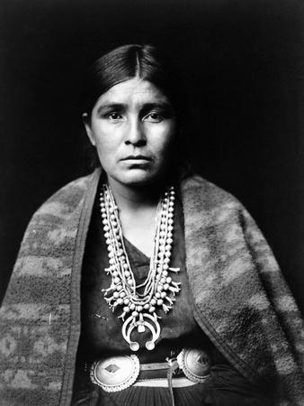 Navajo Woman, C1904 Stretched Canvas Print