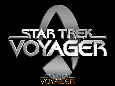 Star Trek Voyager Logo Stretched Canvas Print