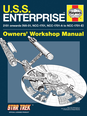 Star Trek: The Original Series, U.S.S. Enterprise Owners' Workshop Manual Stretched Canvas Print