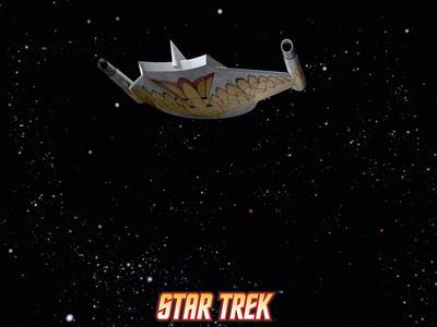 Star Trek: The Original Series, Starship Stretched Canvas Print