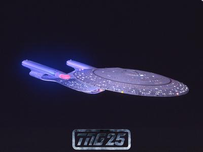 Star Trek: The Next Generation Starship USS Enterprise NCC-1701-D Stretched Canvas Print