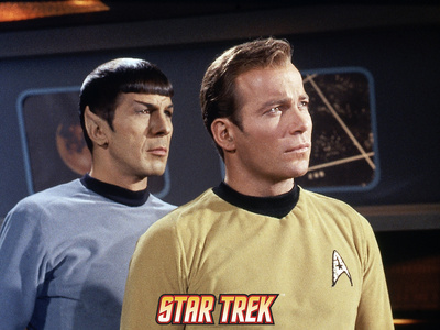 Star Trek: The Original Series, Mr. Spock and Captain James T. Kirk Stretched Canvas Print