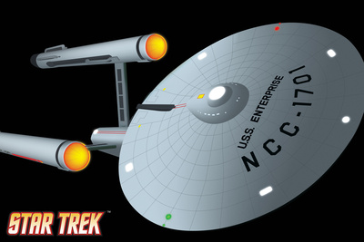 Star Trek: The Original Series, USS Enterprise NCC-1701 Icon Stretched Canvas Print