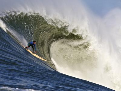 Mavericks Surf Competition 2010, Half Moon Bay, California, Usa Stretched Canvas Print