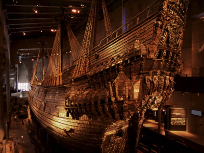 Vasa, a 17Th Century Warship, Vasa Museum, Stockholm, Sweden, Scandinavia, Europe Stretched Canvas Print