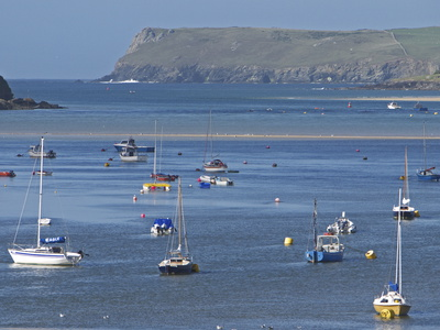 Padstow Bay, Padstow, Cornwall, England, United Kingdom, Europe Stretched Canvas Print