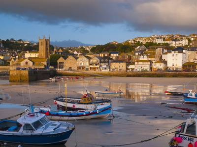 St. Ives Harbour, Cornwall, England, United Kingdom, Europe Stretched Canvas Print