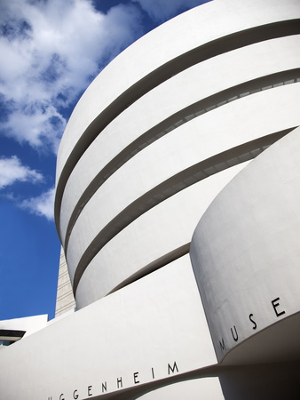 Guggenheim Museum, Designed By Frank Lloyd Wright, 5th Ave at 89th Street, New York Stretched Canvas Print