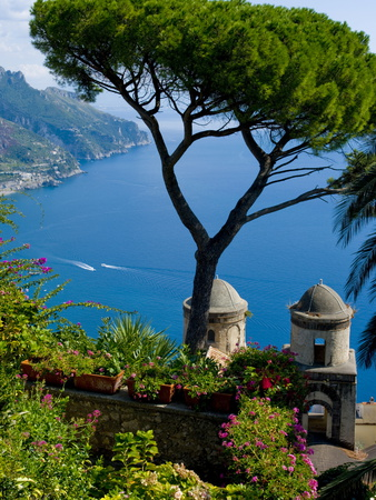 Rufolo View, Ravello, Amalfi Coast, UNESCO World Heritage Site, Campania, Italy, Europe Stretched Canvas Print