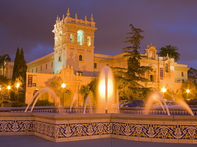 House of Hospitality in Balboa Park, San Diego, California, United States of America, North America Stretched Canvas Print
