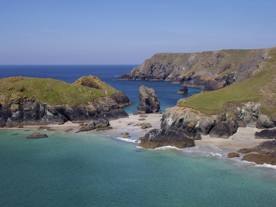 Kynance Cove, Cornwall, England, United Kingdom, Europe Stretched Canvas Print