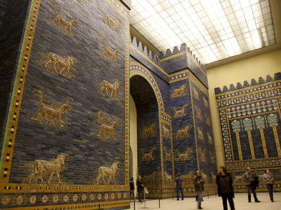 Ishtar Gate From Babylon at Berlin Pergamon Museum, Berlin, Germany, Europe Stretched Canvas Print