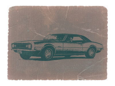 Chevy Camaro Stretched Canvas Print