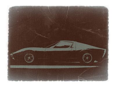 Lamborghini Miura Stretched Canvas Print
