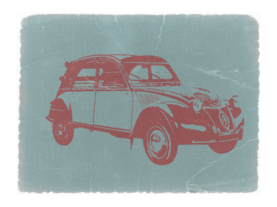 Citroen 2Cv Stretched Canvas Print