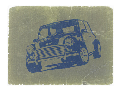 Mini Cooper Stretched Canvas Print