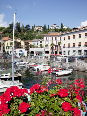 Town and Harbour, Menaggio, Lake Como, Lombardy, Italian Lakes, Italy, Europe Stretched Canvas Print