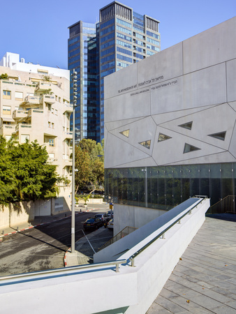 Exterior of the New Herta and Paul Amir Building of the Tel Aviv Museum of Art, Tel Aviv, Israel, M Stretched Canvas Print