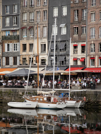 Inner Harbour, Honfleur, Normandy, France, Europe Stretched Canvas Print