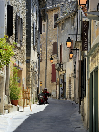 Traditional Old Stone Houses, Les Plus Beaux Villages De France, Menerbes, Provence, France, Europe Stretched Canvas Print
