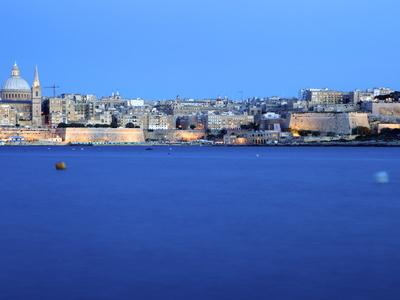 Overlooking Valletta, Malta, Mediterranean, Europe Stretched Canvas Print