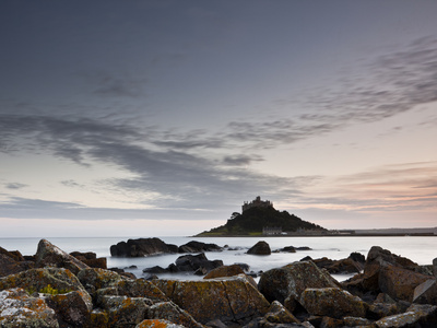 St. Michael's Mount, Marazion, Cornwall, England, United Kingdom, Europe Stretched Canvas Print