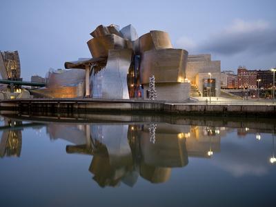 Guggenheim Museum, Bilbao, Euskal Herria, Euskadi, Spain, Europe Stretched Canvas Print