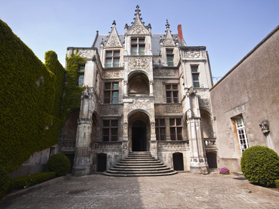 Hotel Gouin, a 15th Century Town Mansion Now a Museum, the Facade Is a Masterpiece of the Italian R Stretched Canvas Print