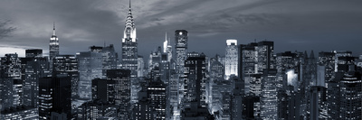 Midtown Skyline with Chrysler Building and Empire State Building, Manhattan, New York City, USA Stretched Canvas Print