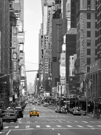 USA, New York, Manhattan, Midtown, 7th Avenue Stretched Canvas Print